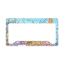 MAP OF RUSSIA License Plate Holder