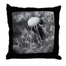 Macro of dandelion head with some rem Throw Pillow