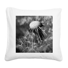 Macro of dandelion head with  Square Canvas Pillow