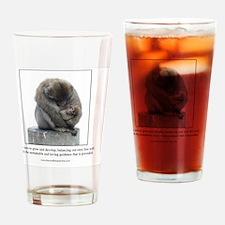 Ape Card Drinking Glass