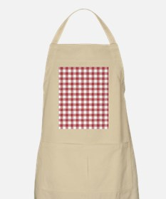 Red Plaid Tablecloth Apron