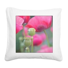 Poppies, Bourges, France. Square Canvas Pillow