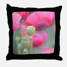 Poppies, Bourges, France. Throw Pillow