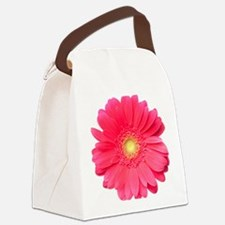 Pink gerbera daisy isolated on wh Canvas Lunch Bag