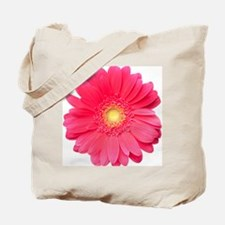 Pink gerbera daisy isolated on white. Tote Bag