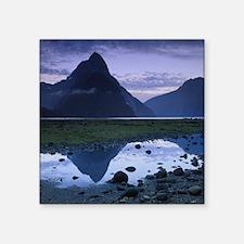 "Mitre Peak at Milford Sound Square Sticker 3"" x 3"""