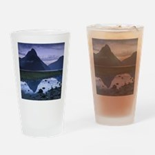 Mitre Peak at Milford Sound, New Ze Drinking Glass