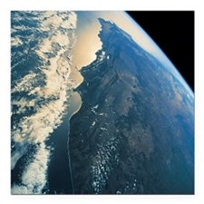 """planet earth viewed from Square Car Magnet 3"""" x 3"""""""