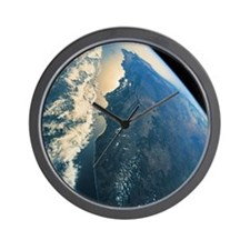 planet earth viewed from space Wall Clock