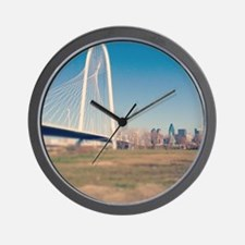 Margaret Hunt Hill bridge, Dallas. Wall Clock