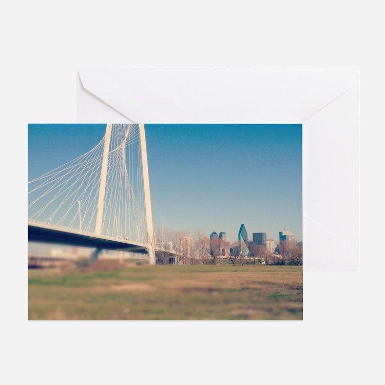 Margaret Hunt Hill bridge, Dallas. Greeting Card