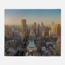 New York City, Manhattan, Midtown, P Throw Blanket