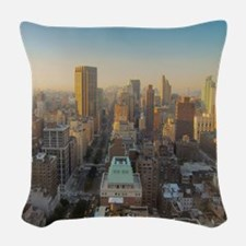 New York City, Manhattan, Midt Woven Throw Pillow