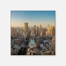 "New York City, Manhattan, M Square Sticker 3"" x 3"""