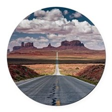 Monument Valley. Round Car Magnet
