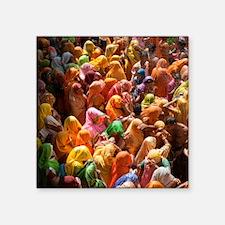 "Mathura-Vrindavan - the ess Square Sticker 3"" x 3"""