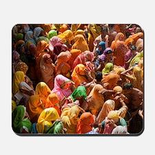 Mathura-Vrindavan - the essence of Holi  Mousepad