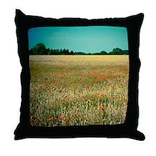 Poppy field. Throw Pillow