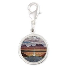 Monument Valley. Silver Round Charm
