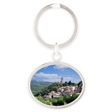 Olargue, Languedoc-Roussillon, Franc Oval Keychain