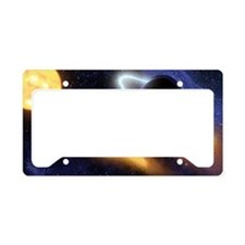 Black Hole and Star License Plate Holder