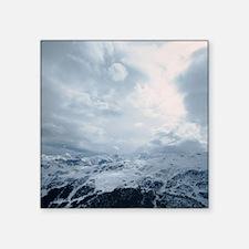 """Meribel ski valley resort,  Square Sticker 3"""" x 3"""""""