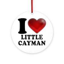 I Heart Little Cayman Round Ornament
