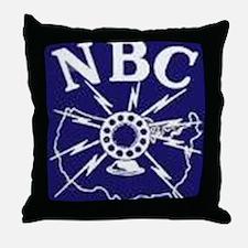 NBC Blue Network logo Throw Pillow