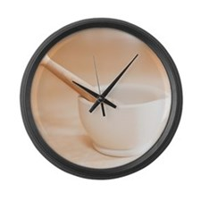 Mortar and pestle in kitchen. Large Wall Clock