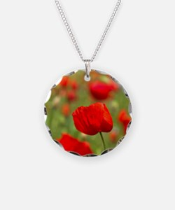 Red poppies in cornfield, Fr Necklace