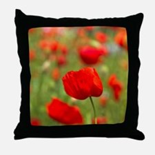 Red poppies in cornfield, France Throw Pillow