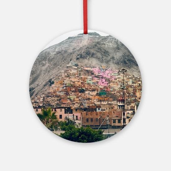 San Cristobal Hill in Lima. Round Ornament