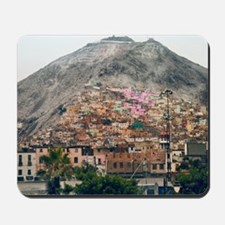 San Cristobal Hill in Lima. Mousepad
