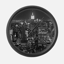 New York City at Night. Large Wall Clock
