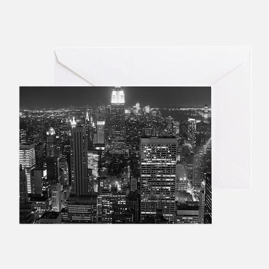 New York City at Night. Greeting Card