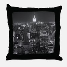 New York City at Night. Throw Pillow