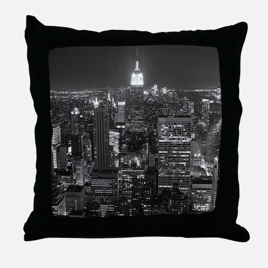 New York City at Night. Throw Pillow