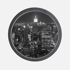 New York City at Night. Wall Clock