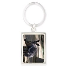 Yellow-Footed Rock Wallaby Portrait Keychain