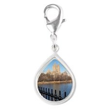 San Remo, Central Park, New Silver Teardrop Charm