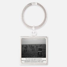 Chairs Card Square Keychain