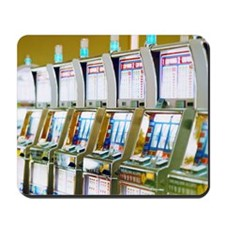 Row of Slot Machines Mousepad
