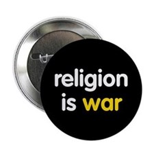 """Religion is War 2.25"""" Button (10 pack)"""