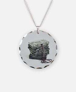 Pile of unwound cassette tap Necklace