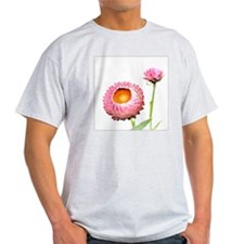 Pink Strawflowers, Japan T-Shirt