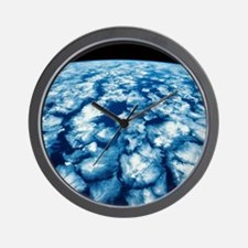 Planet Surface Wall Clock