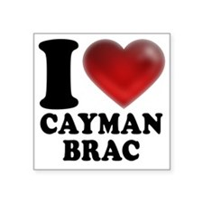 "I Heart Cayman Brac Square Sticker 3"" x 3"""