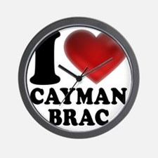 I Heart Cayman Brac Wall Clock