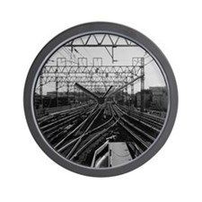 Railway tracks in Japan. Wall Clock