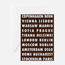 Choco EU Cities Greeting Card